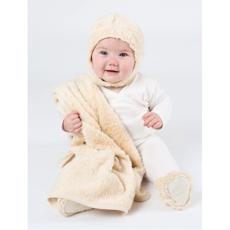 EarthHero - Shaggy Sherpa Snap Baby Booties - 5