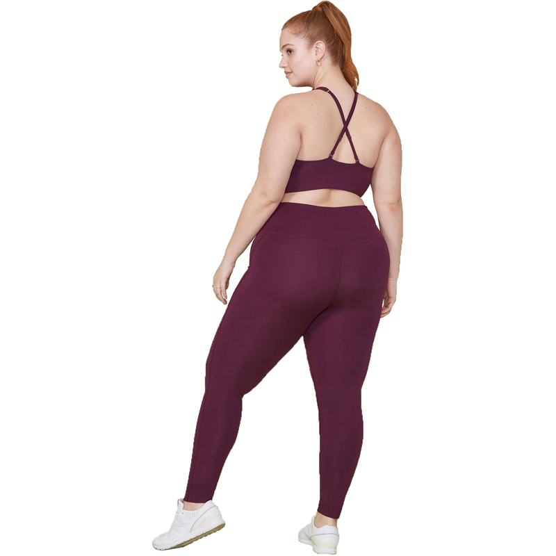EarthHero - Plum Girlfriend Collective High-Rise Compressive Legging - 2