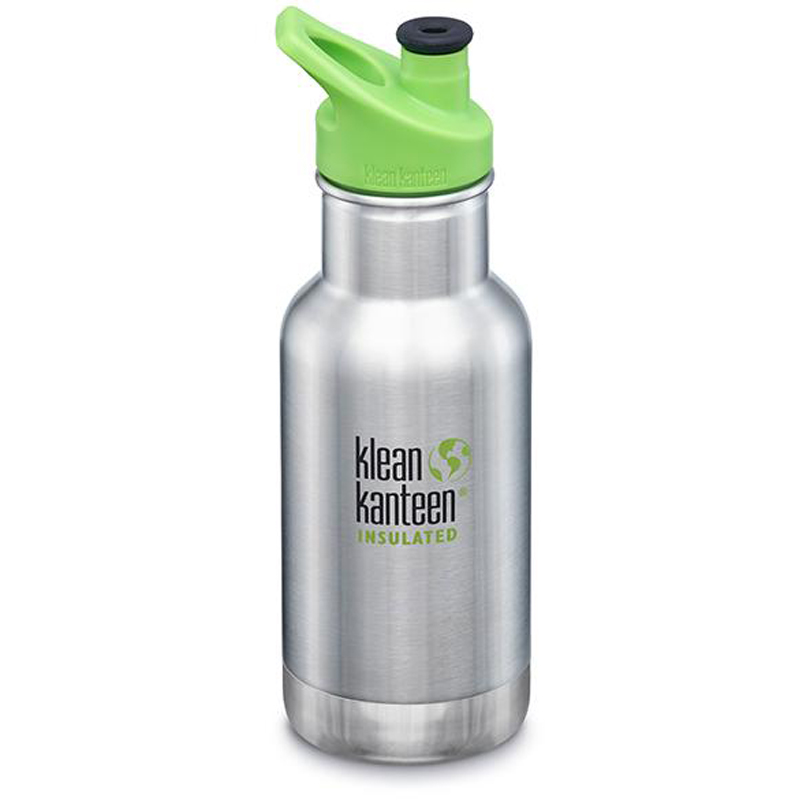 EarthHero - Brushed Stainless Insulated Sport Kids Water Bottle 12oz 1