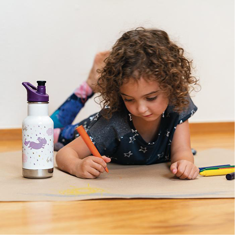 EarthHero - Unicorn Leap Insulated Sport Kids Water Bottle 12oz 2