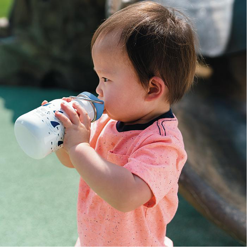 EarthHero - Kid Kanteen Sippy Sharks Kids Water Bottle 12oz 2