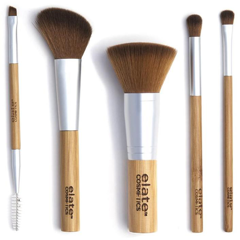 EarthHero - Bamboo Makeup Brush Set + Canvas Roll Up - 2