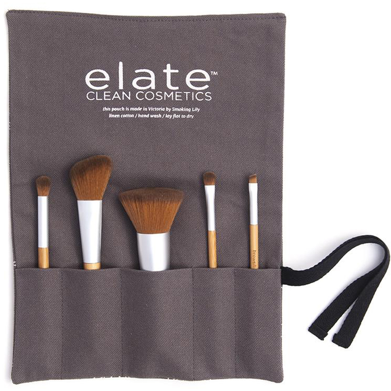 EarthHero - Bamboo Makeup Brush Set + Canvas Roll Up - 1