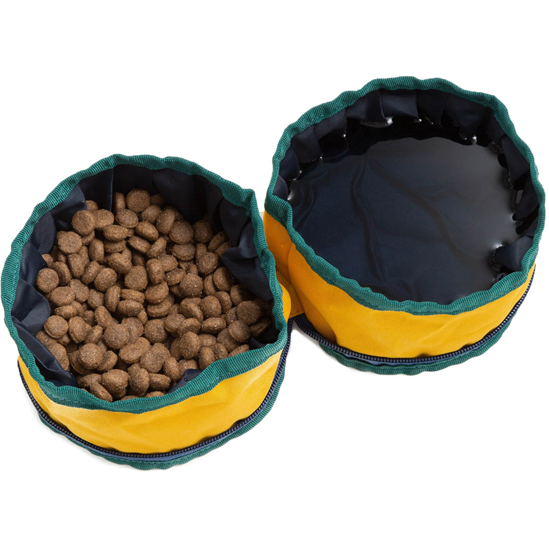 EarthHero - Recycled Polyester Collapsible Dog Bowl - Mustard