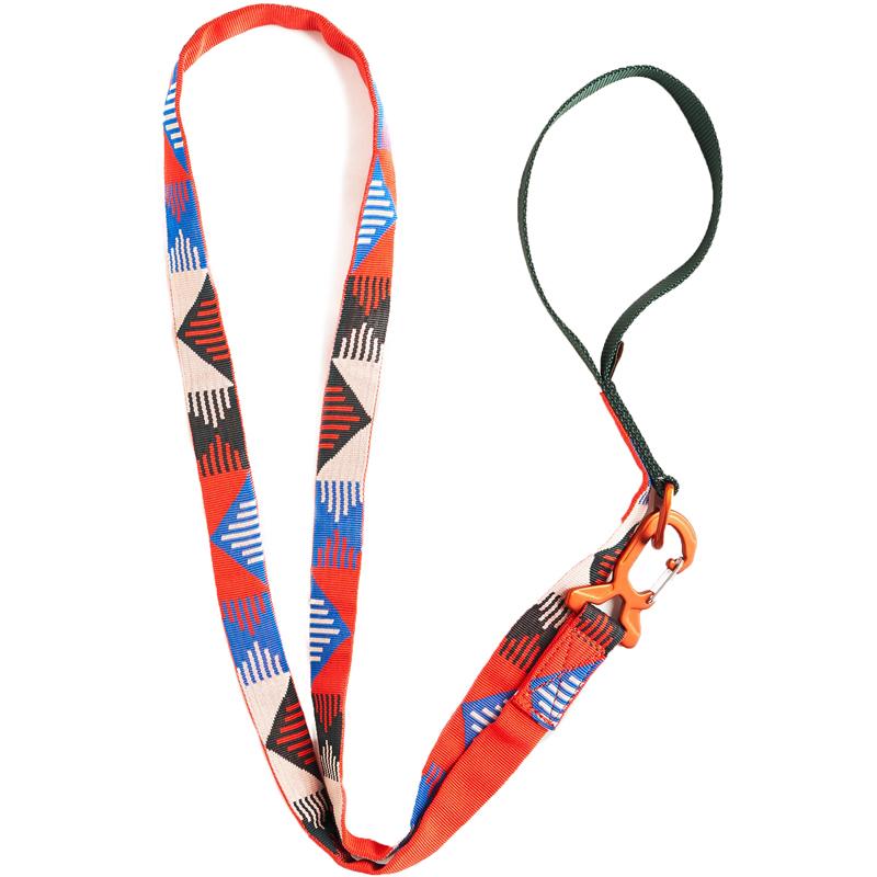 EarthHero - Recycled Polyester Dog Leash - Crimson
