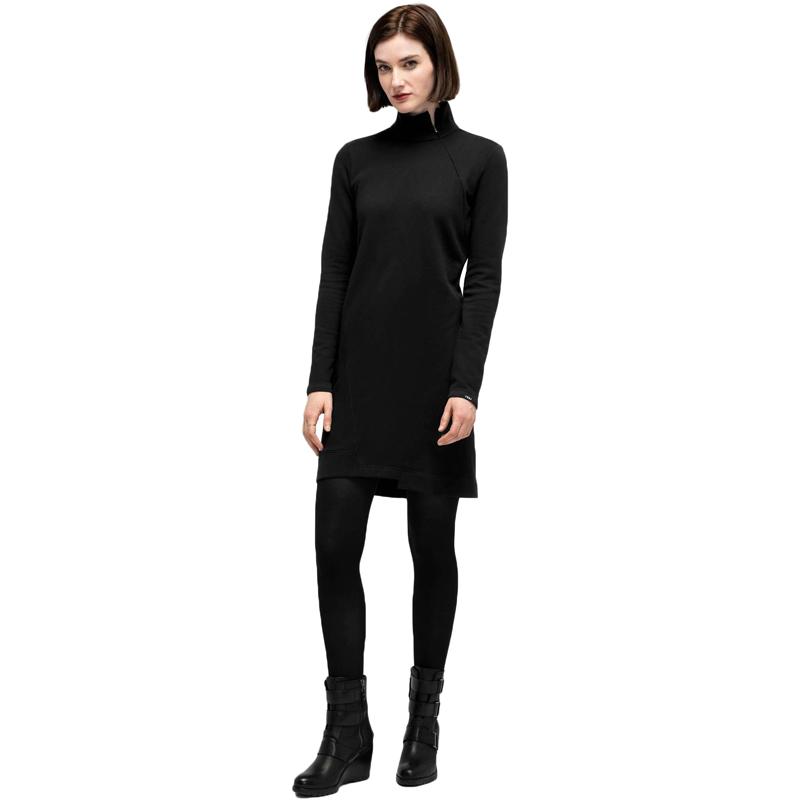 EarthHero - Cozette Zip Neck Women's Dress - Caviar