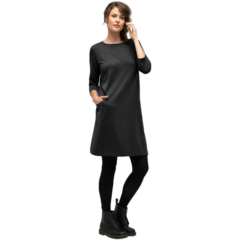 EarthHero - Women's Elementerry Boatneck Dress - Caviar