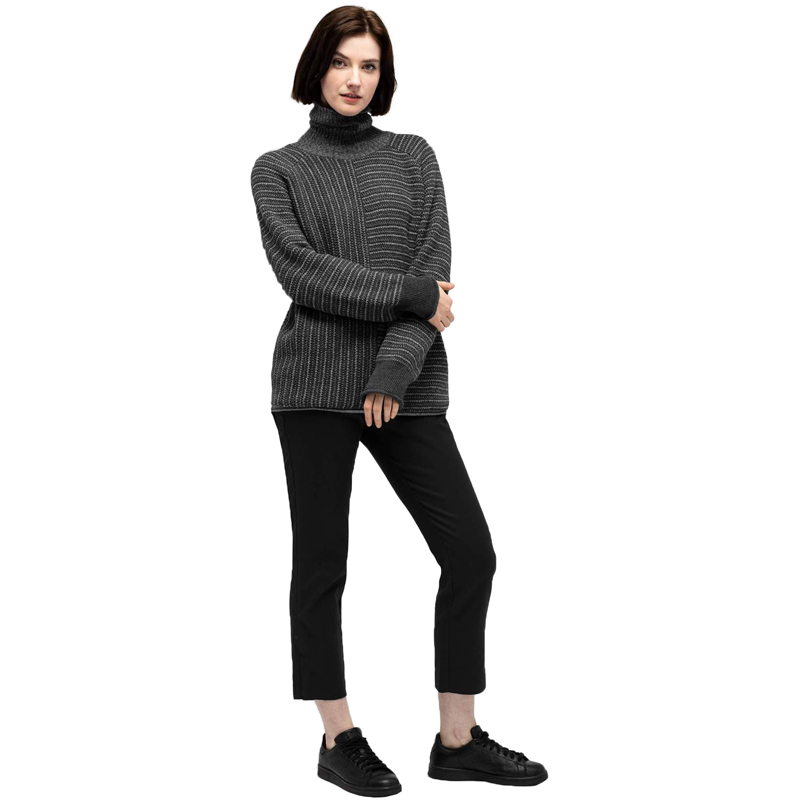 EarthHero - Women's Mantyl Turtleneck Sweater - Charcoal
