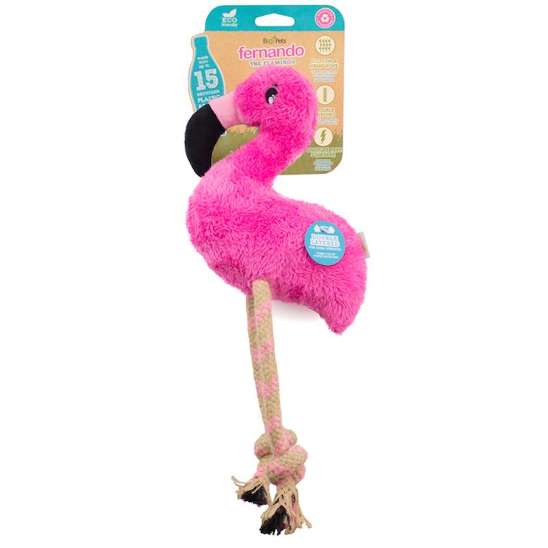 EarthHero - Flamingo Plush Rope Dog Toy 1