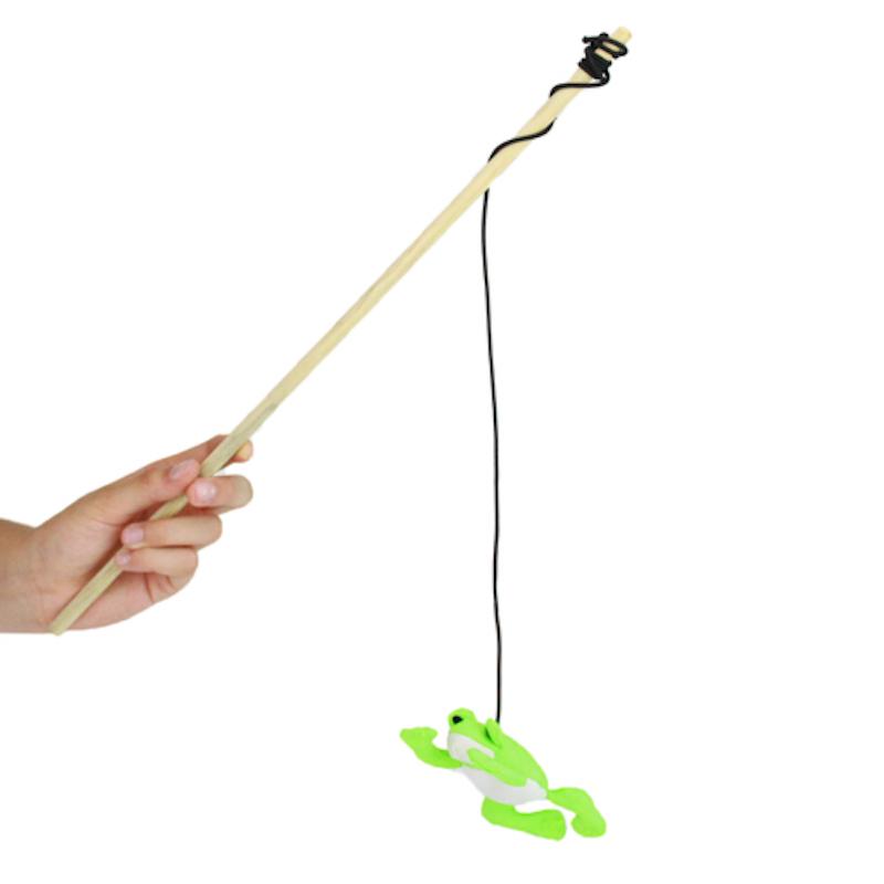 EarthHero - Frog Catnip Wand Cat Toy  1