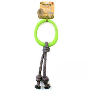 EarthHero - Natural Rubber Hoop on a Rope Dog Toy 1