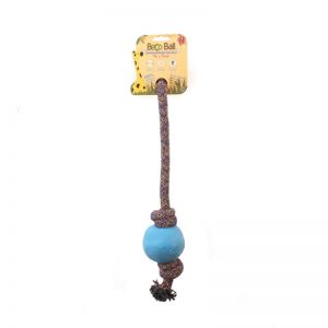 EarthHero - Natural Rubber Rope Ball Dog Toy - Large