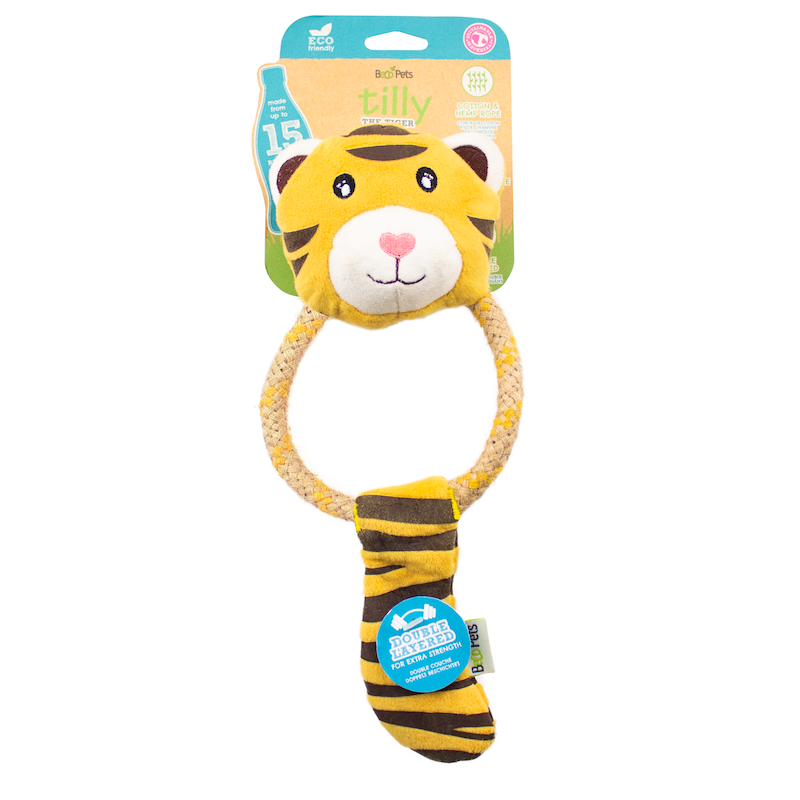 EarthHero - Tiger Plush Rope Dog Toy 1