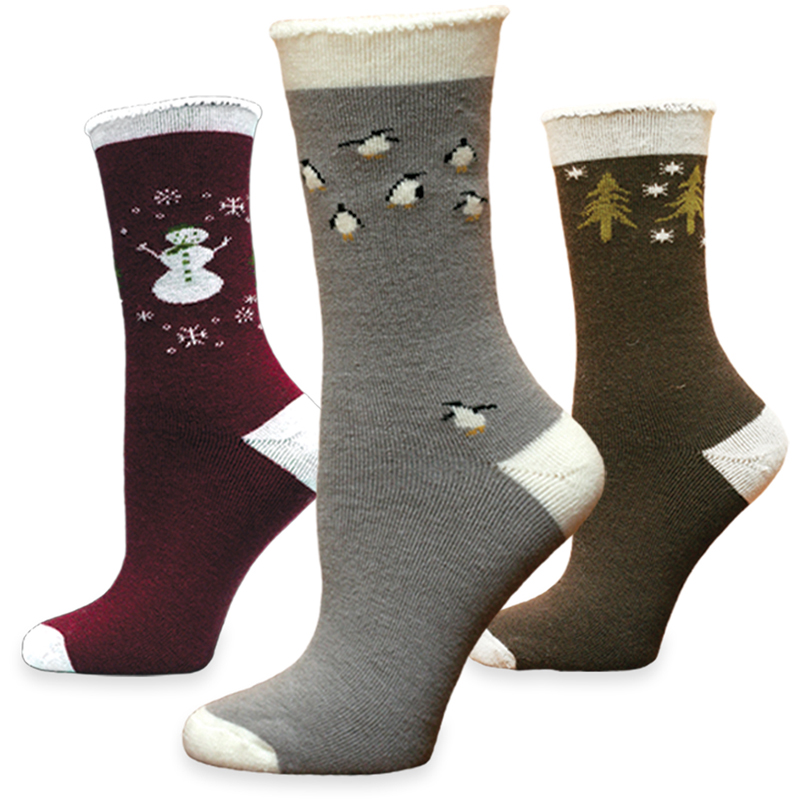 EarthHero - Holiday Snuggle Organic Wool Socks 1