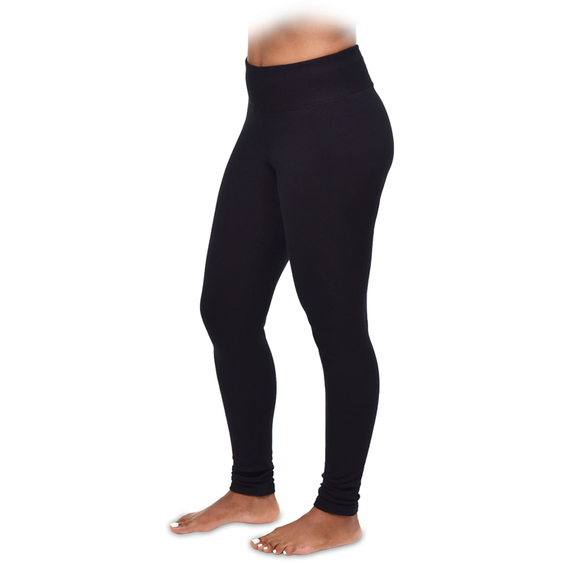 EarthHero - Organic Cotton Fleece Ankle Legging - Black