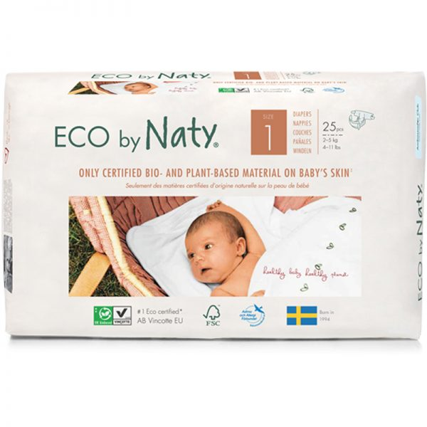 EarthHero - Biobased Size 1 Eco-Friendly Diapers - 1