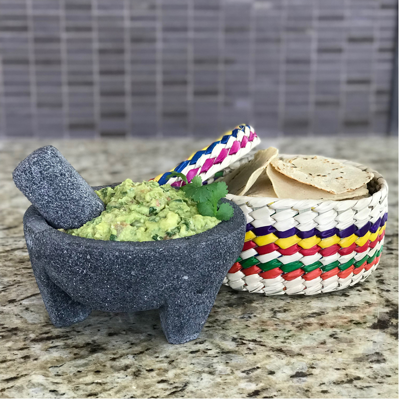 EarthHero - Guacamole Molcajete and Tortilla Basket - 6