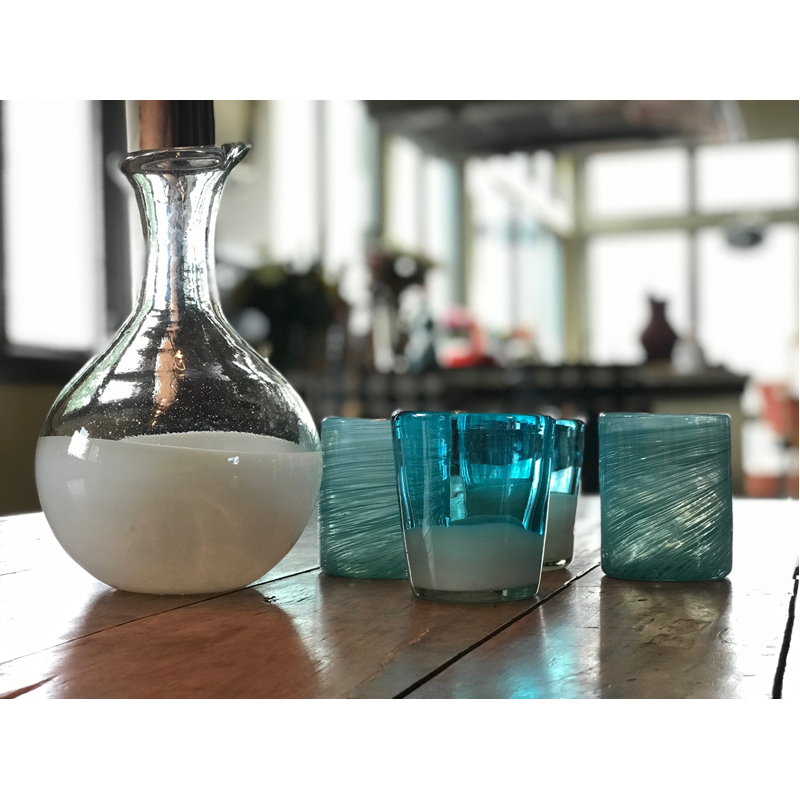 EarthHero - Handblown Recycled Glass Carafe - 6