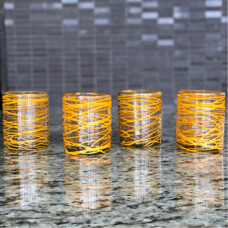 EarthHero - Handblown Recycled Glasses 4pk - 6