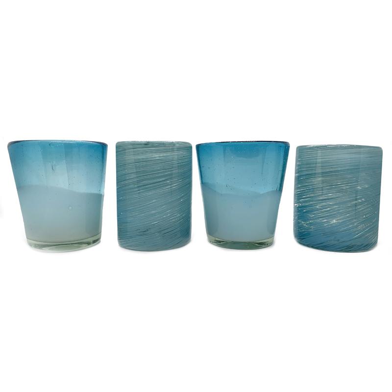 EarthHero - Handblown Recycled Glasses 4pk - 2