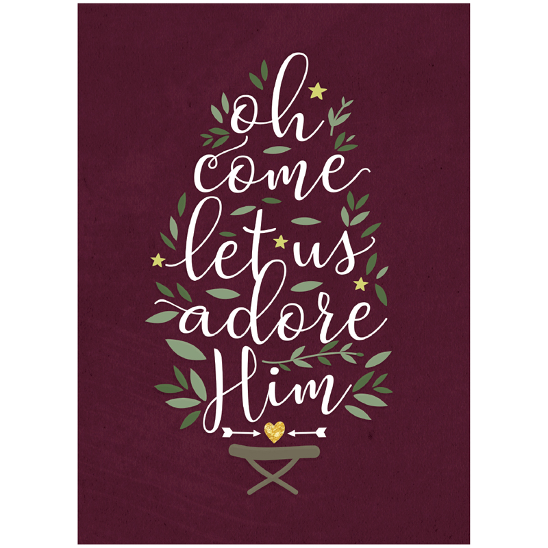 EarthHero - Adore Him Christmas Cards (10 Pk) 1