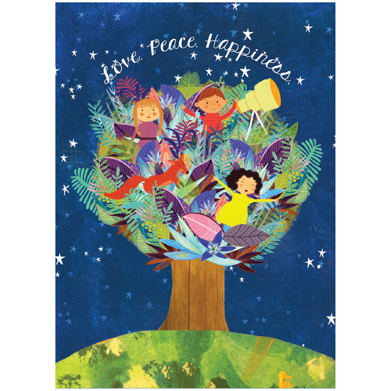 EarthHero - Children Tree Holiday Greeting Cards (10 Pk) 1