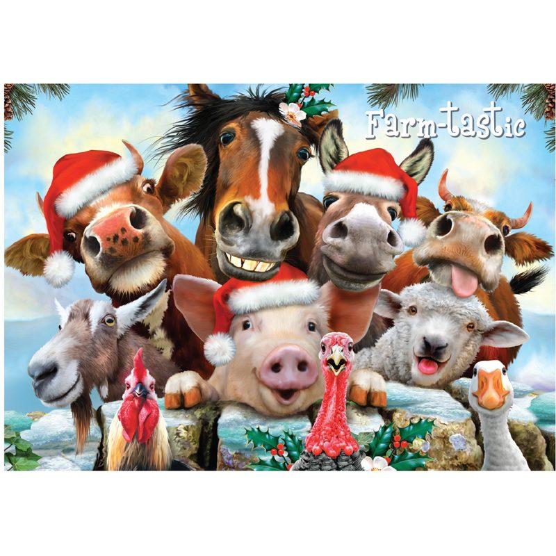 EarthHero - Farm-tastic Holiday Christmas Cards (10 Pk)  1