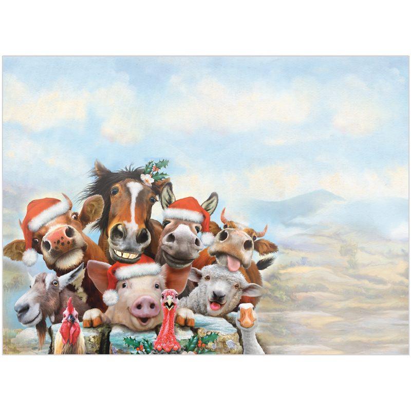 EarthHero - Farm-tastic Holiday Christmas Cards (10 Pk)  3