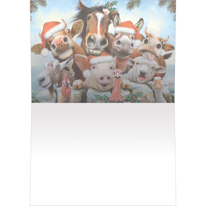 EarthHero - Farm-tastic Holiday Christmas Cards (10 Pk)  2