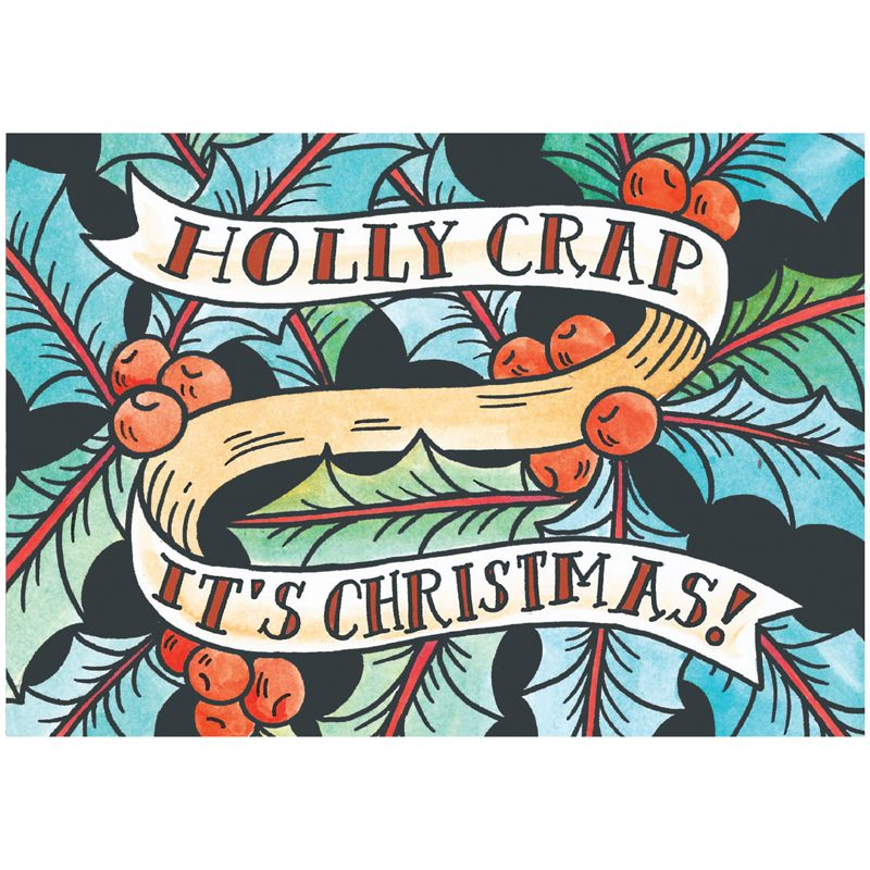 EarthHero - Holly Crap Christmas Cards (10 Pk) 1