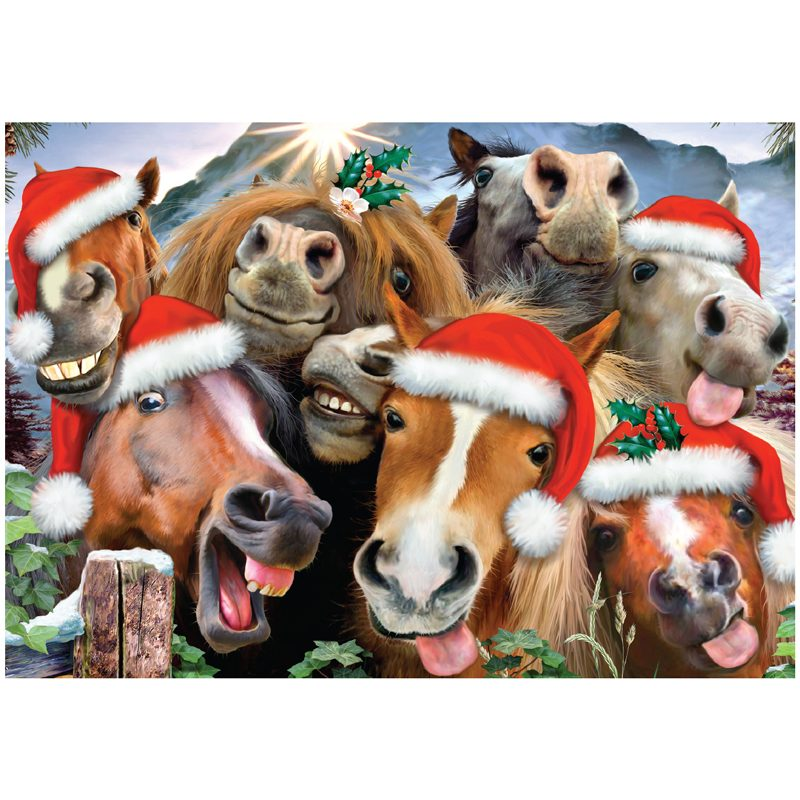 EarthHero - Horsing Around Holiday Christmas Cards (10 Pk) 1