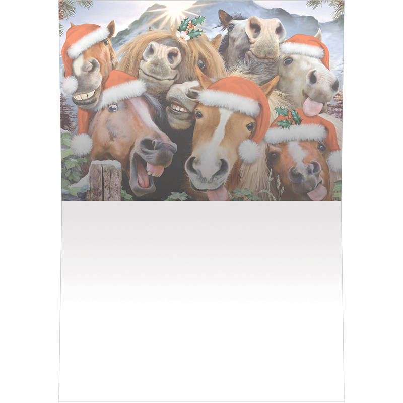 EarthHero - Horsing Around Holiday Christmas Cards (10 Pk) 2