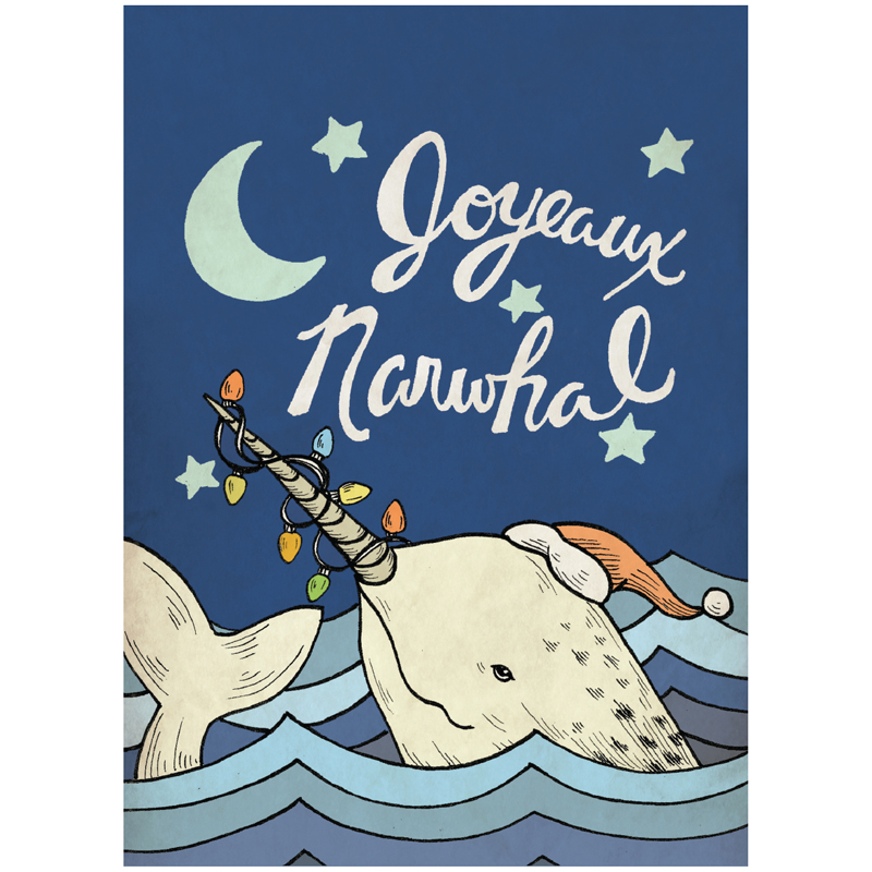 EarthHero - Joyeux Narwhal Christmas Cards (10 Pk) 1
