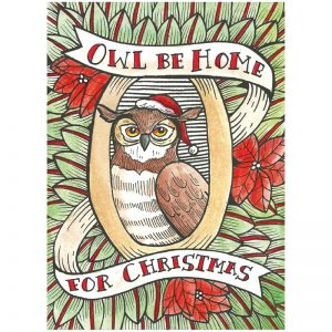 EarthHero - Owl Be Home Christmas Cards (10 Pk) 1
