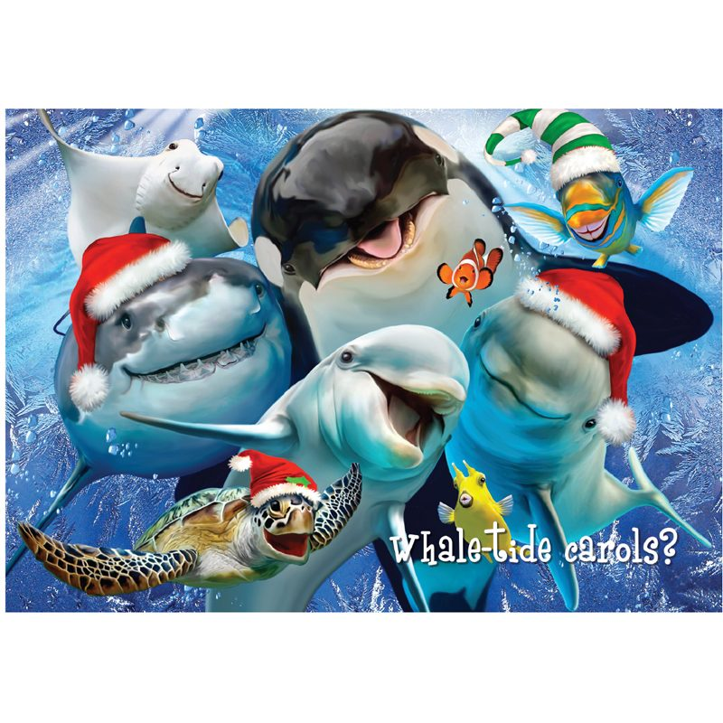 EarthHero - Whale of a Great Holiday Christmas Cards (10 Pk) 1