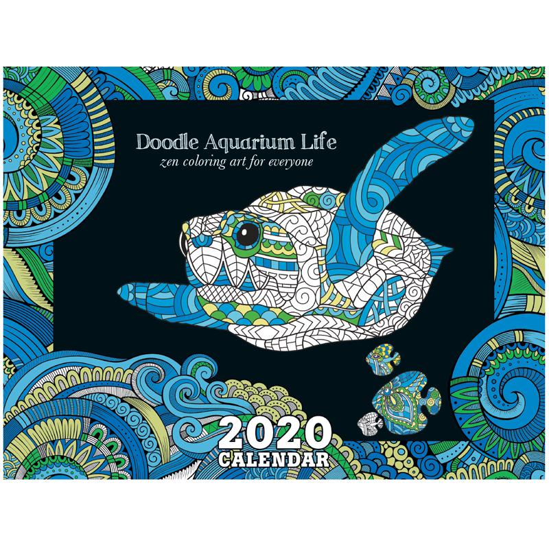 EarthHero - Aquarium Life Coloring Calendar 1