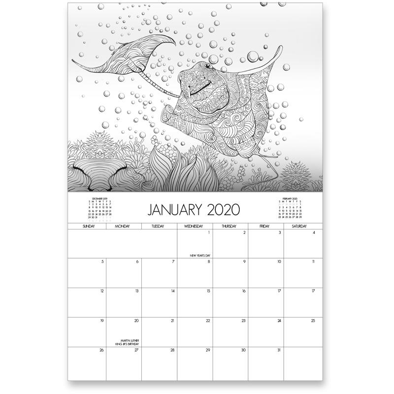 EarthHero - Aquarium Life Coloring Calendar 2
