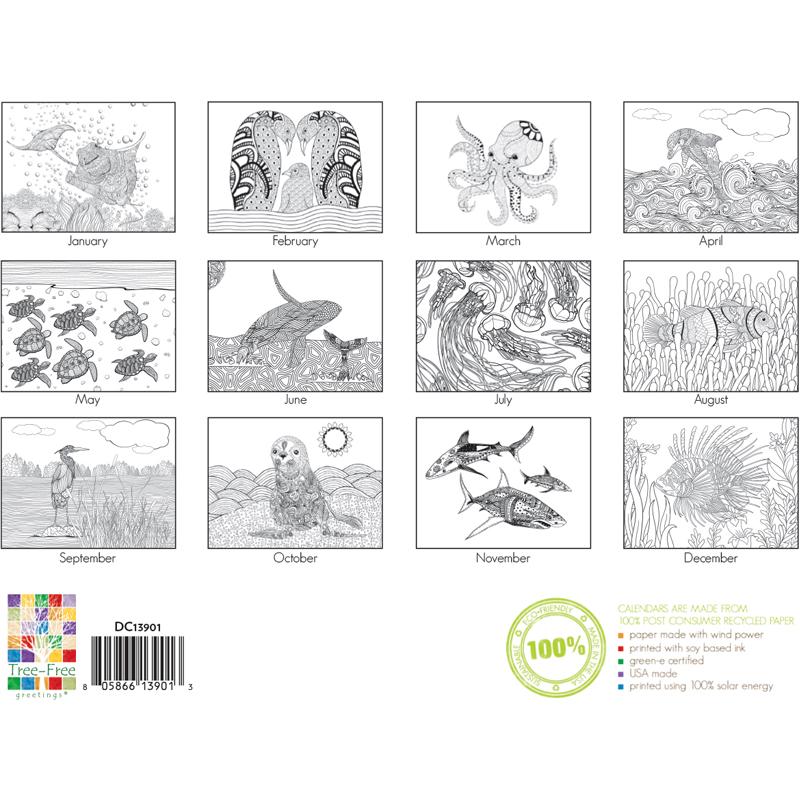 EarthHero - Aquarium Life Coloring Calendar 3