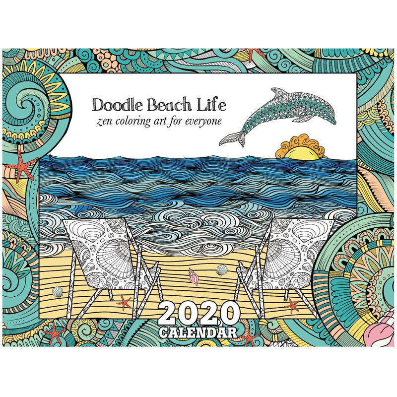 EarthHero - Beach Life Coloring Calendar 1