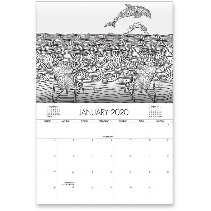 EarthHero - Beach Life Coloring Calendar 2