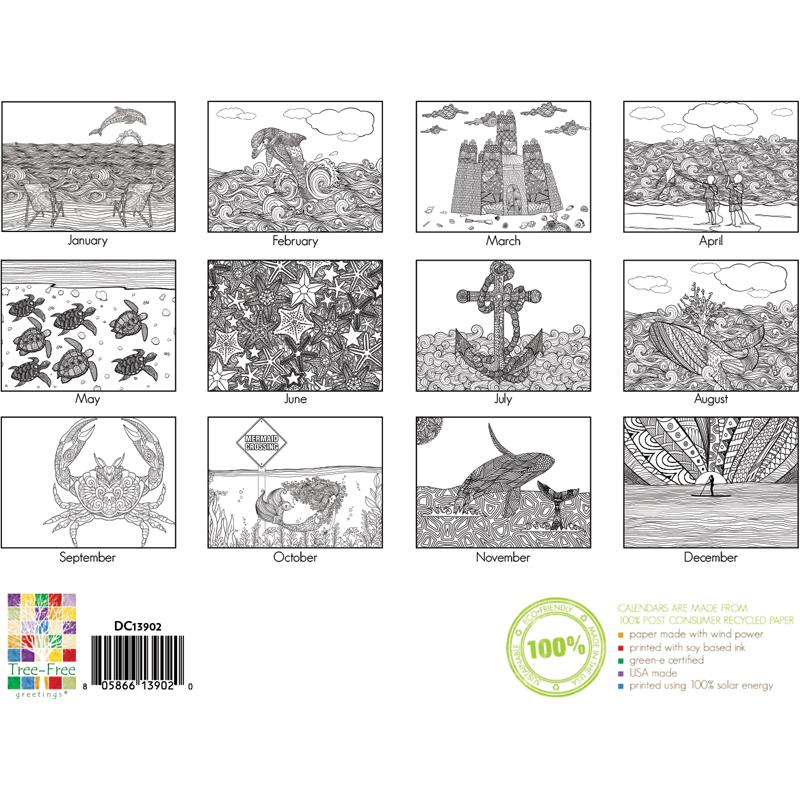 EarthHero - Beach Life Coloring Calendar 3