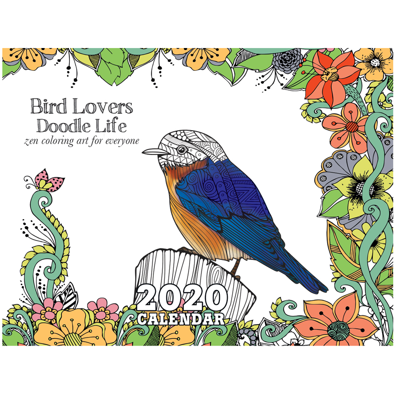 EarthHero - Bird Lovers Coloring Calendar 1