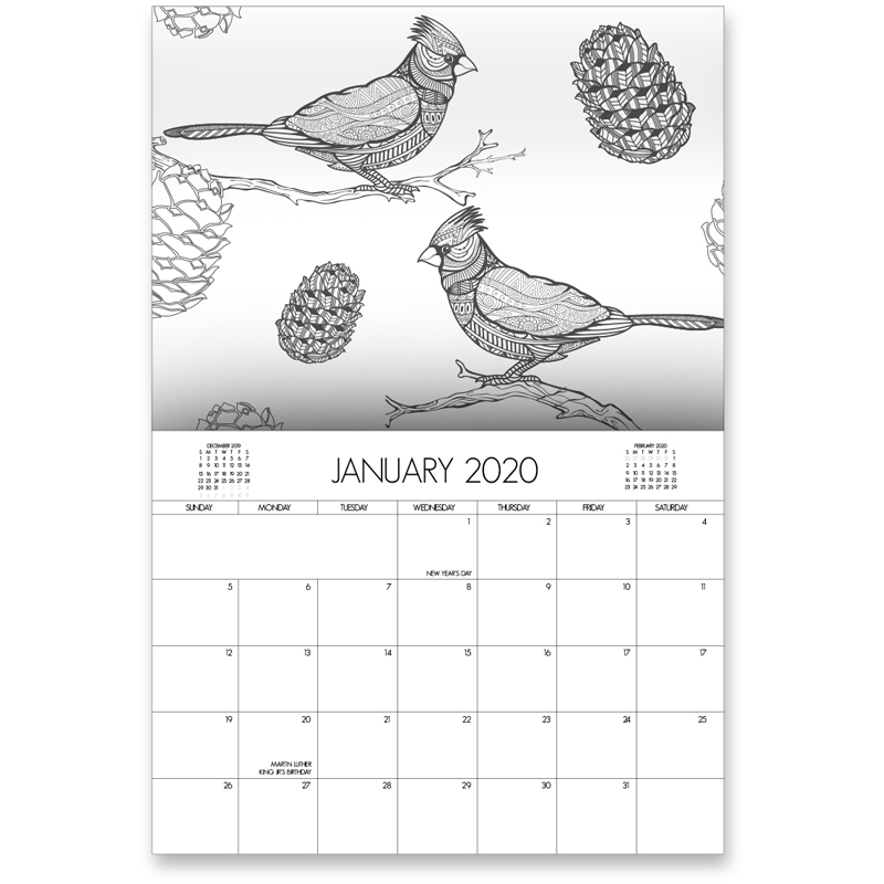 EarthHero - Bird Lovers Coloring Calendar 2