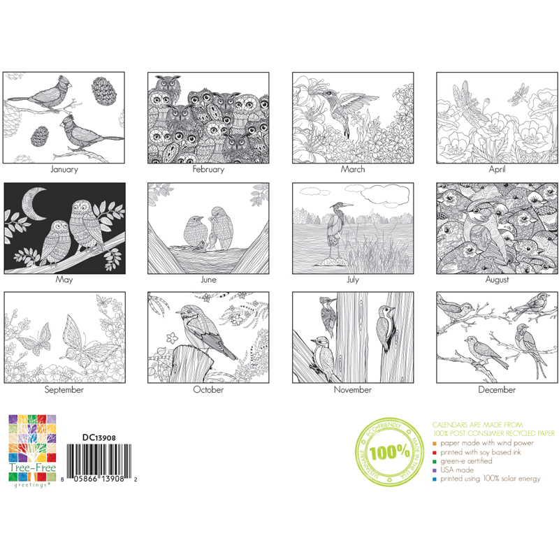 EarthHero - Bird Lovers Coloring Calendar 3