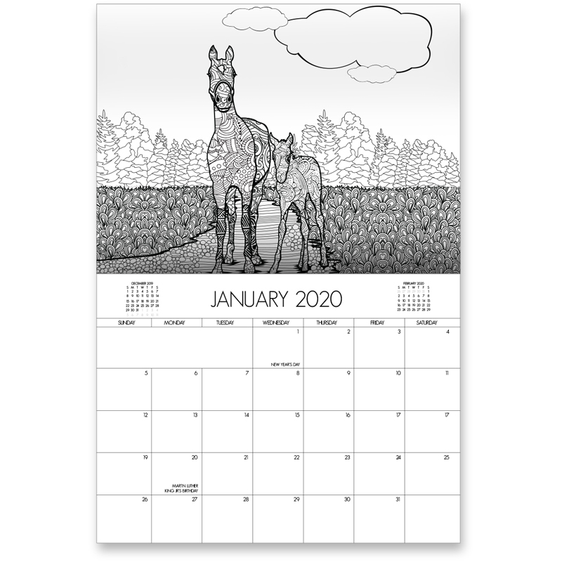 EarthHero - Horse Lovers Coloring Calendar 2