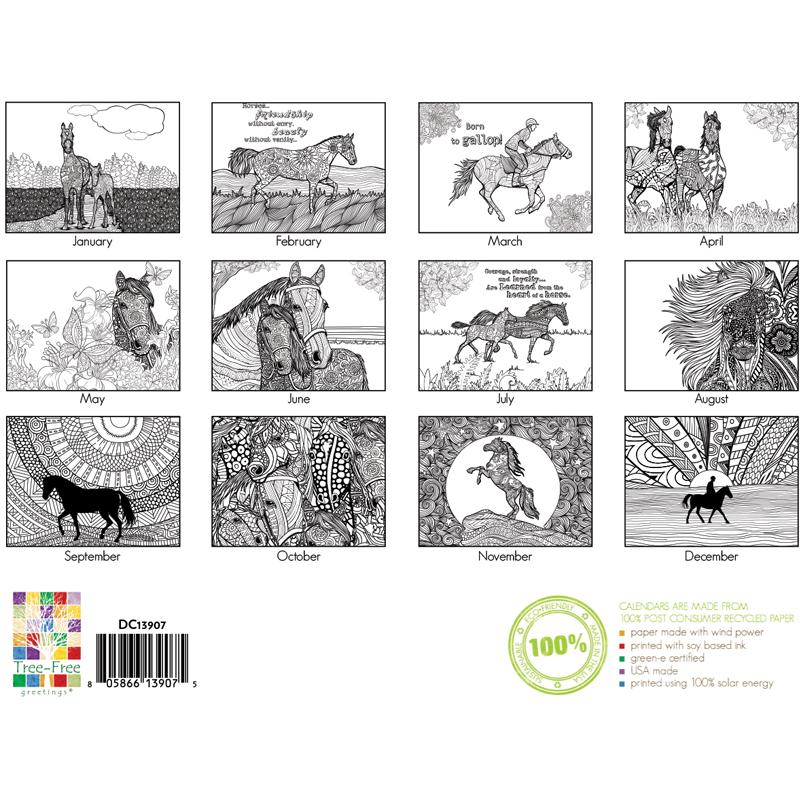 EarthHero - Horse Lovers Coloring Calendar 3