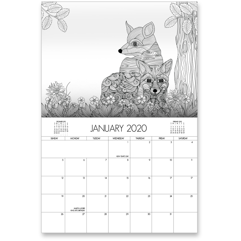 EarthHero - Wildlife Coloring Calendar 2