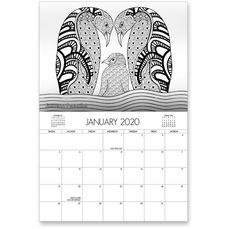 EarthHero - Zoo Life Coloring Calendar 2