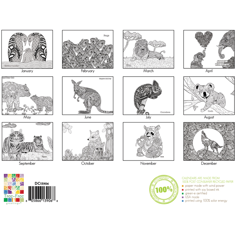 EarthHero - Zoo Life Coloring Calendar 3