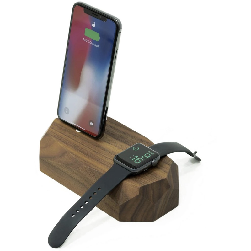EarthHero - Combo Wooden iPhone Charging Dock - 1
